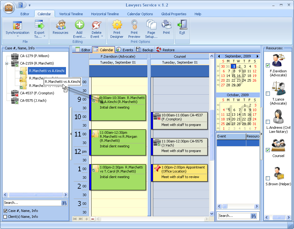 Click to view Lawyers Service 2.7 screenshot