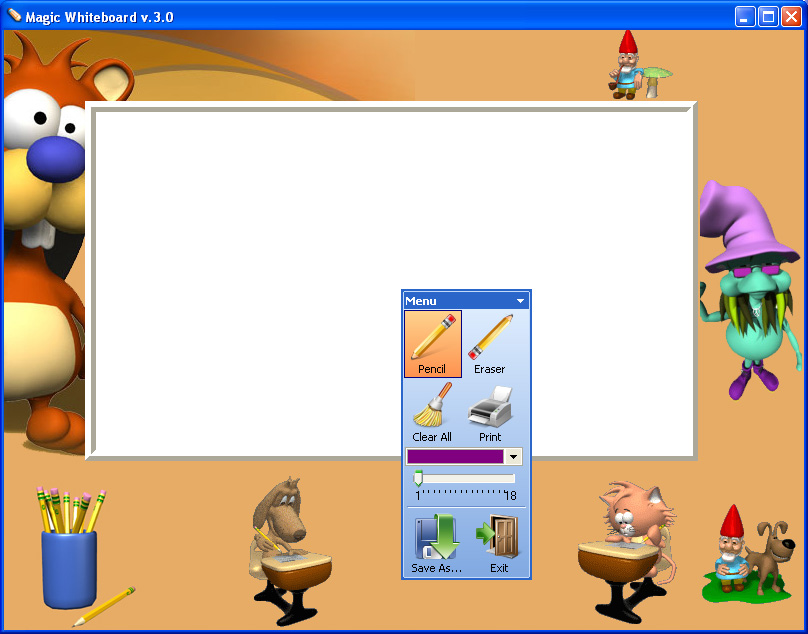 Click to view Magic Whiteboard 3.4 screenshot