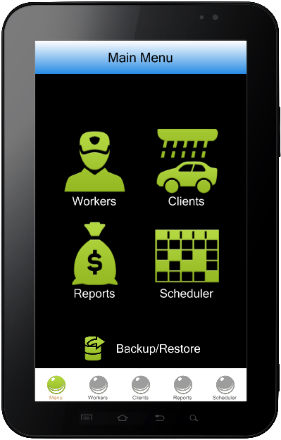 Car wash business software. Mobile version.