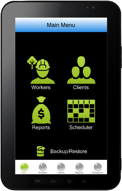 Lawn Care business software for ipad, iphone and android.